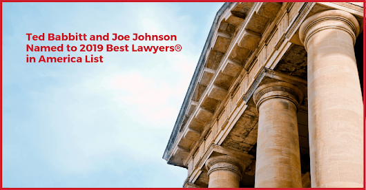 Babbitt & Johnson P.A. Partners Named to 2019 Best Lawyers® in America List