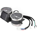TOPINCN LED Motorcycle Modified Accessories Speedometer Odometer Tachometer for Suzuki GN125