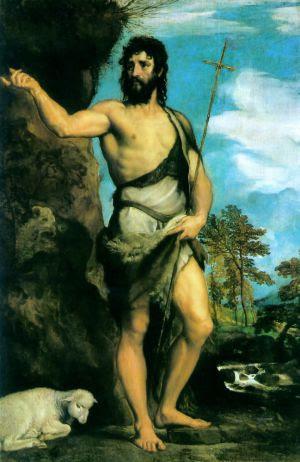 'San Juan Bautista' (hacia 1542), de Tiziano, en la Galería de la Academia de Venecia.