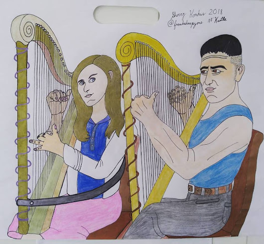 NEW #KASTLE HARP ART!!