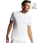 Hanes 2135P5 Men's White TAGLESS Crewneck Undershirt 5-Pack - White