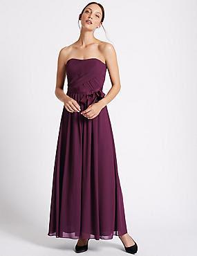 Maxi Dresses | Petite & Long Sleeve Evening Maxi Dress | M&S