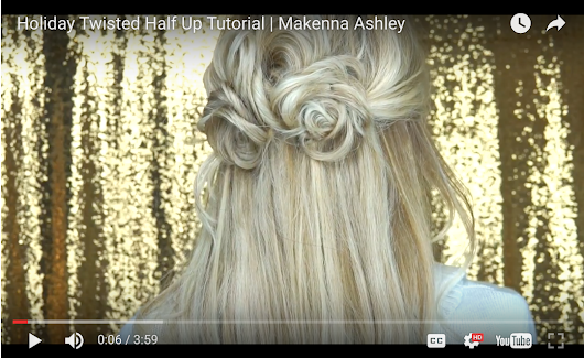 Holiday Hairstyle Tutorial | Cashmere Hair Clip In Extensions