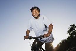 Elderly Man on Bicycle