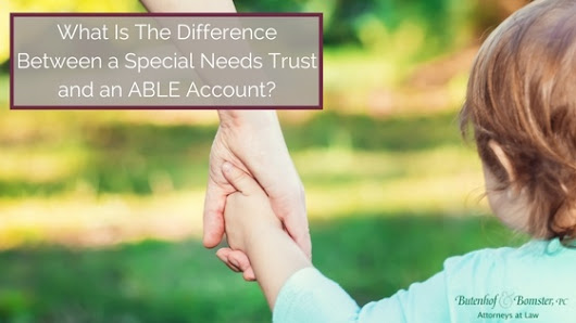 What is The Difference Between a Special Needs Trust and an ABLE Account?