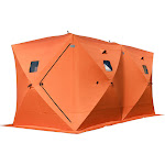 Forest Grass USA Waterproof Pop-Up 8-Person Ice Shelter Fishing Tent