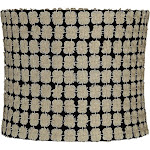 Edinburgh Gold over Black Drum Lamp Shade 12x12x10 (Spider) - Style # 47E52