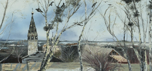 "Reproduction of ""The rooks have come back"" by Savrasov 
