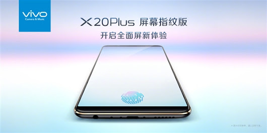 VIVO X20 Plus UD to Debut with World's First under Display Fingerprint Sensor