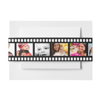 Film Strip Personalized DIY 9 Images Invitation Belly Band
