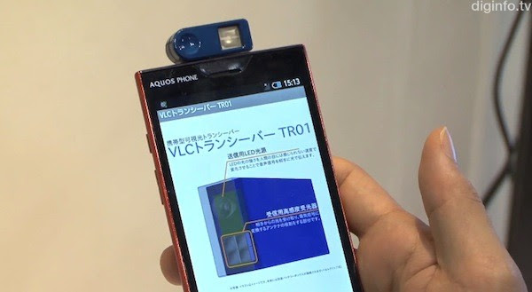Outstanding Technology brings visible light communication to phones, does wireless data transmission via dongle and LEDs