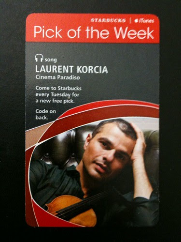 @Starbucks iTunes Pick of the Week - Laurent Korica - Cinema Paradiso #potw #fb