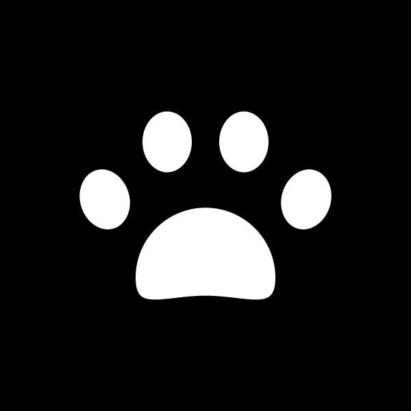 かわいい犬の足跡の無料イラスト商用フリー オイデ43