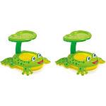 Intex Froggy Friend Shaded Canopy Baby Kiddie Pool Floating Water Raft (2 Pack)