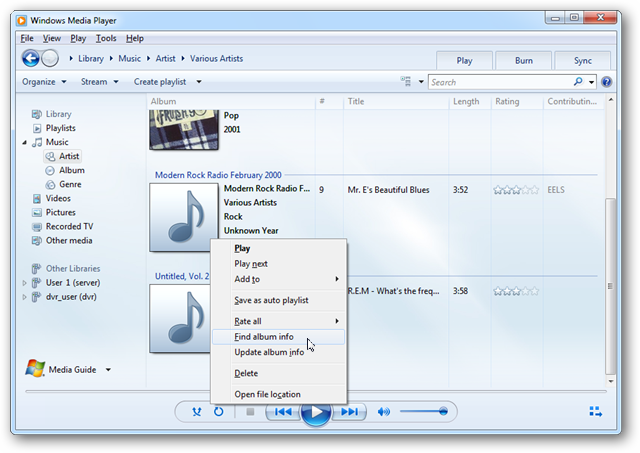 Update Metadata and Cover Art in Windows Media Player 12