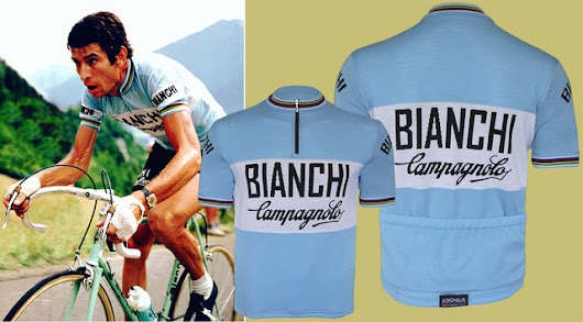 Bianchi Campagnolo World Champion Jersey -  Retro wool cycling jerseys