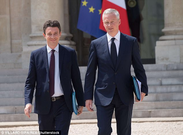 French finance minister Bruno Le Maire (pictured right) said earlier this year that Brexit provided a 'fabulous opportunity for France'