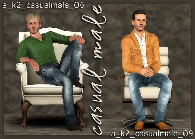 Casual Male - Poses 06 and 09