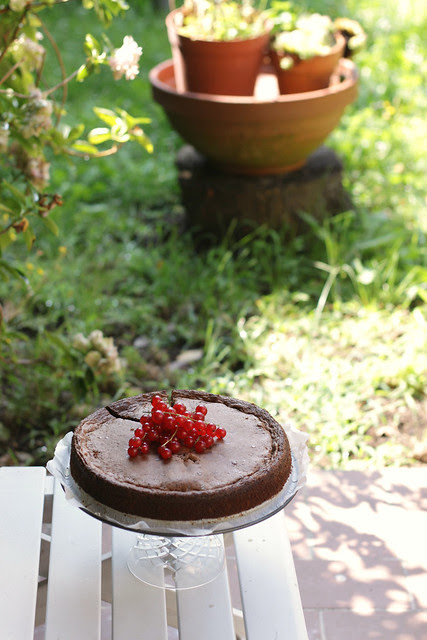 Chocolate, almond, amaretti cake
