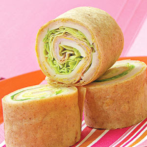 rollos de tortilla de pavo