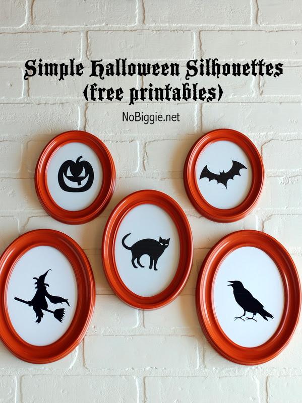 5 Halloween Silhouettes - free printables - NoBiggie.net