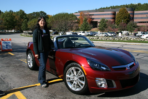 Outside the Saturn SKY Roadster