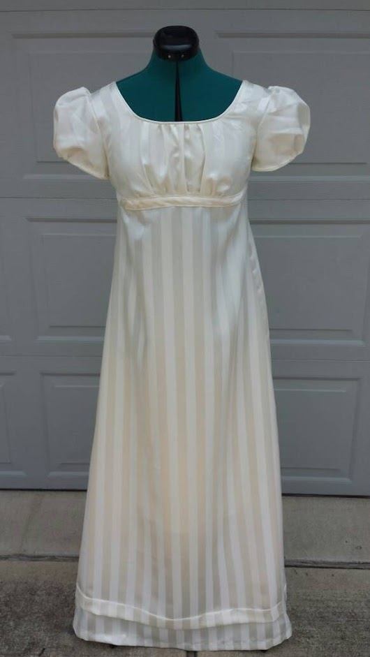 Elizabeth Bennet Ivory Regency Ball Gown by FashionsFromThePast