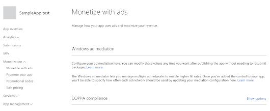 Using Windows Ad Mediation to improve your revenue in the Windows Store on a Window 8/10 application