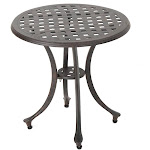Christopher Knight Home Lola Outdoor 19-inch Round Aluminum Side Table by Bronze
