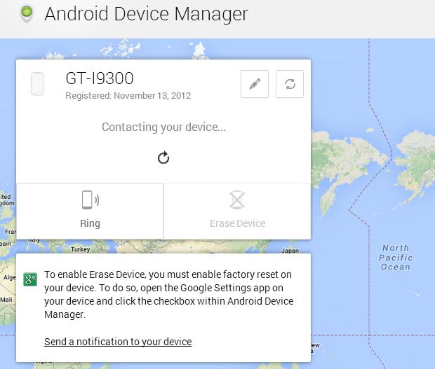Esta e a interface do Device Manager do Android (Foto: Reprodução Thiago Barros)