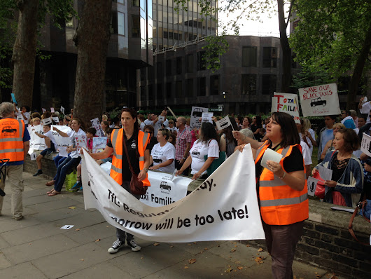 Quotax |   #SaveTaxi Protest outside TFL office a great success