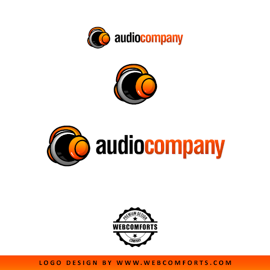 Audio Company Logo design concept