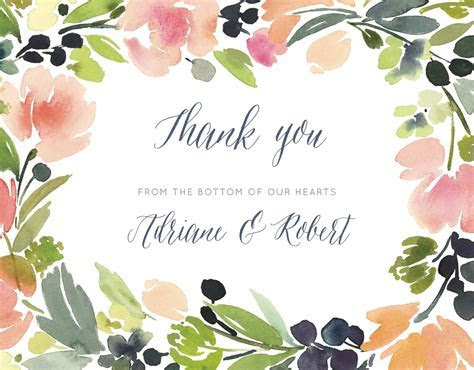 A Word of Thanks   Thank You Cards   Wedding Thank You