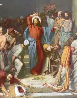 Jésus chasse les voleurs du temple
