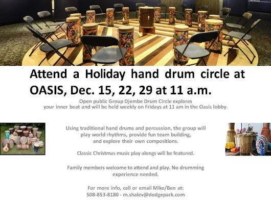 Holiday Hand Drum Circle - The Oasis at Dodge Park