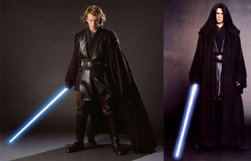 Publicity photos of Hayden Christensen as Anakin Skywalker.
