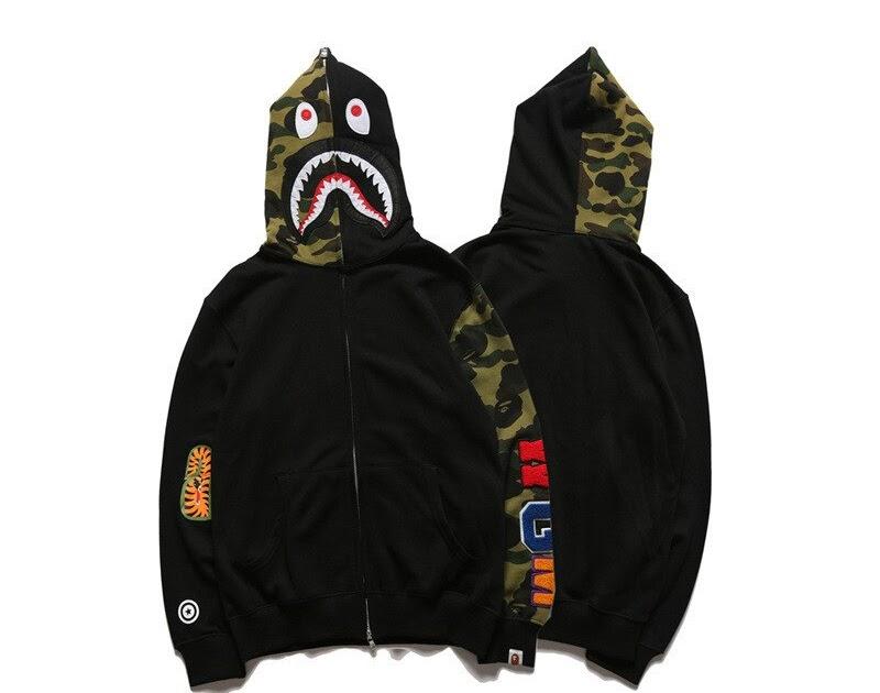 5c5bbf418de Kopen Goedkoop Bape Haai Hoodie Sweatshirt Europese En Amerikaanse Tij Merk Bathing  Ape Online ~ reclusereg