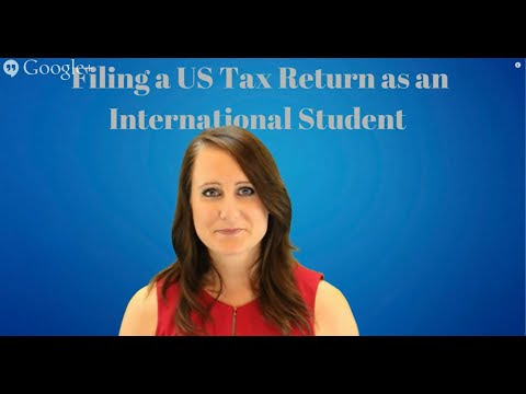 International Student Tax Return and Refund