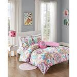 Mi Zone - Camille Floral Comforter Set - Pink - Full/Queen