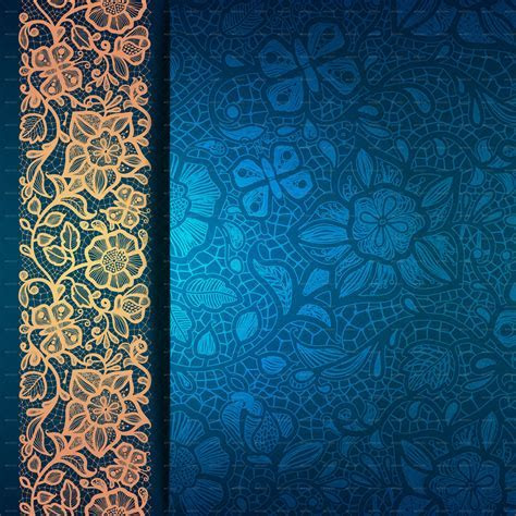 Abstract Greeting Card Background with Flowers   Islamic
