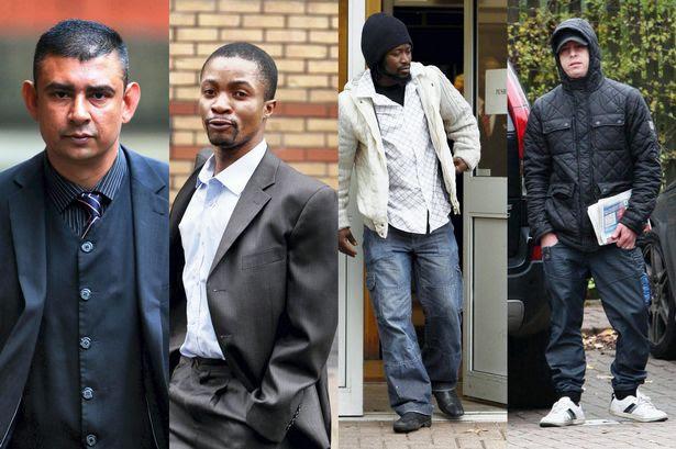 Four of the men: (L-R) Abdul Huk, Chola Chansa, Freddie Kendakumana, Mohammed Rafiq Abubaker