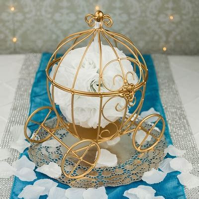 """11.5"""" Wire Frame Cinderella Pumpkin Carriage Wedding"""