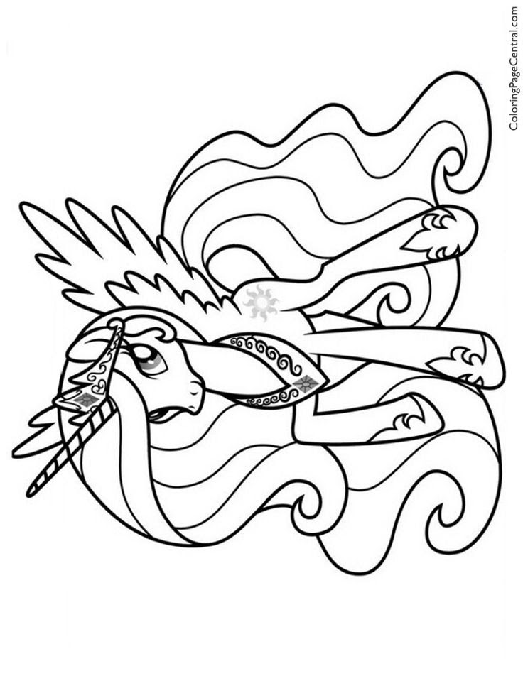 750 Coloring Pages My Little Pony Princess Luna Images & Pictures In HD