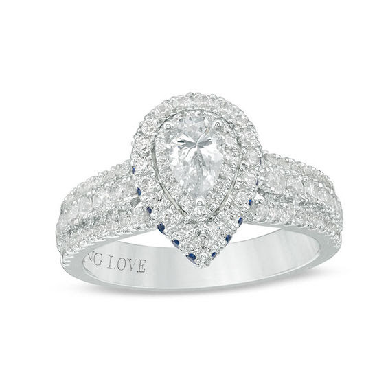 Vera Wang Love Collection 1 Ct Tw Pear Shaped Diamond And