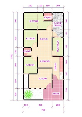 Sketsa Rumah 5 Tumbak