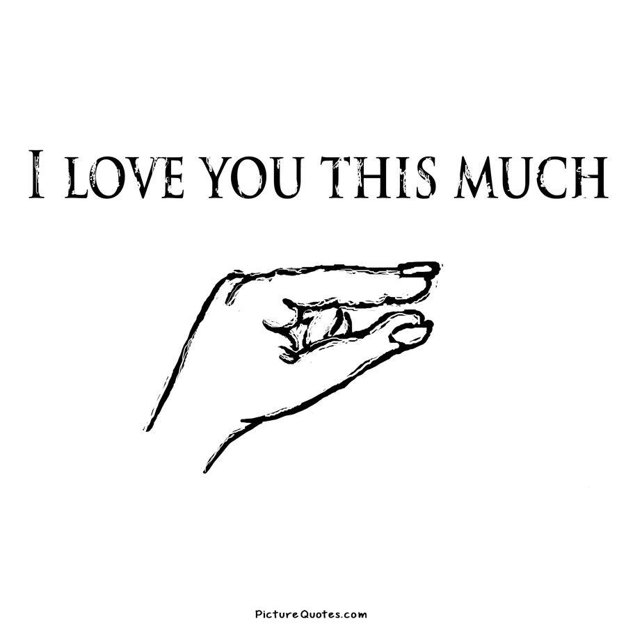 I love you this much Picture Quote 2