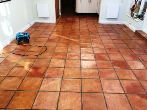 Terracotta Kitchen Tiles Restored for New Homeowners in Brighton