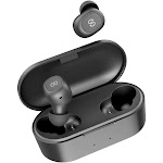 SOUNDPEATS True Wireless Earbuds Headphones in-Ear Stereo Wireless Earphones with Microphone Binaural Calls, One-Step Pairing, Total 35 Hours