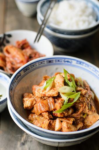 Chicken and Kimchee Stir fry