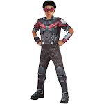Marvel's Captain America: Civil War Boys Deluxe Muscle Chest Falcon Costume - 48055 - Grey/Red - Small (4-6)